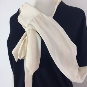 Anthropologie sheer and knit blouse